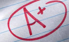 An A+ in grade school was a big deal!