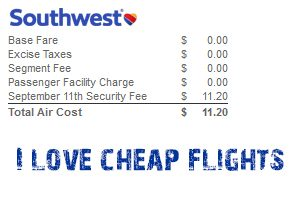 Cheap Southwest flights