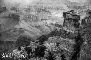 The Grand Canyon in northern Arizona on a frigid December day.