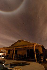 Last night's halo around the moon