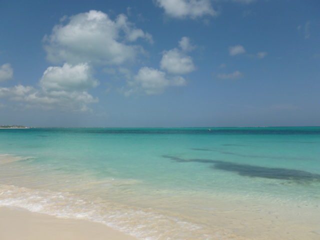 Beautiful ocean waters of Caicos