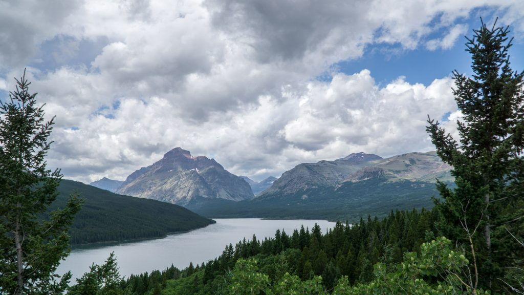 A view from along the Going To The Sun road