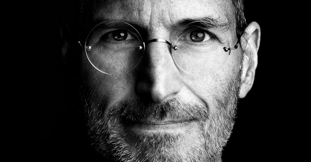 Close up of Steve Jobs
