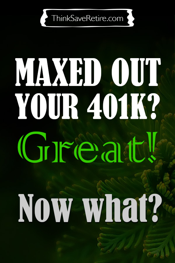 Pinterest: Maxed out your 401k?