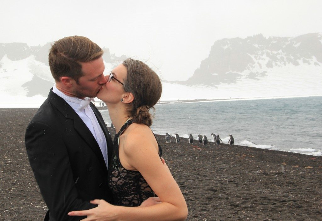 Romantic fun on Antarctica? Why not?!?