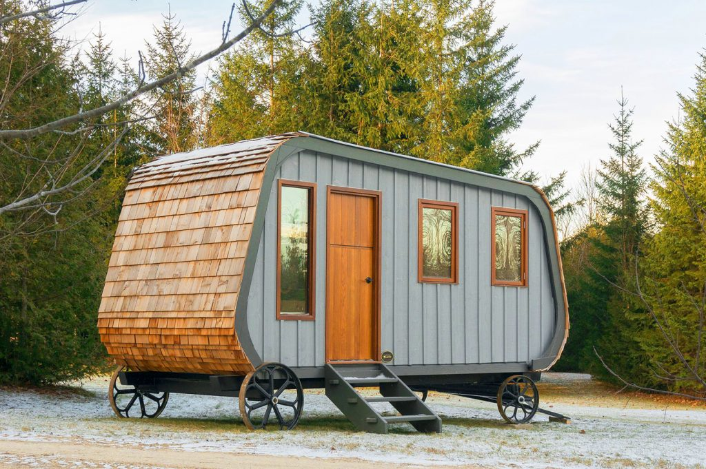 Tiny Collingwood Shepherd Hut (tiny home) on wheels