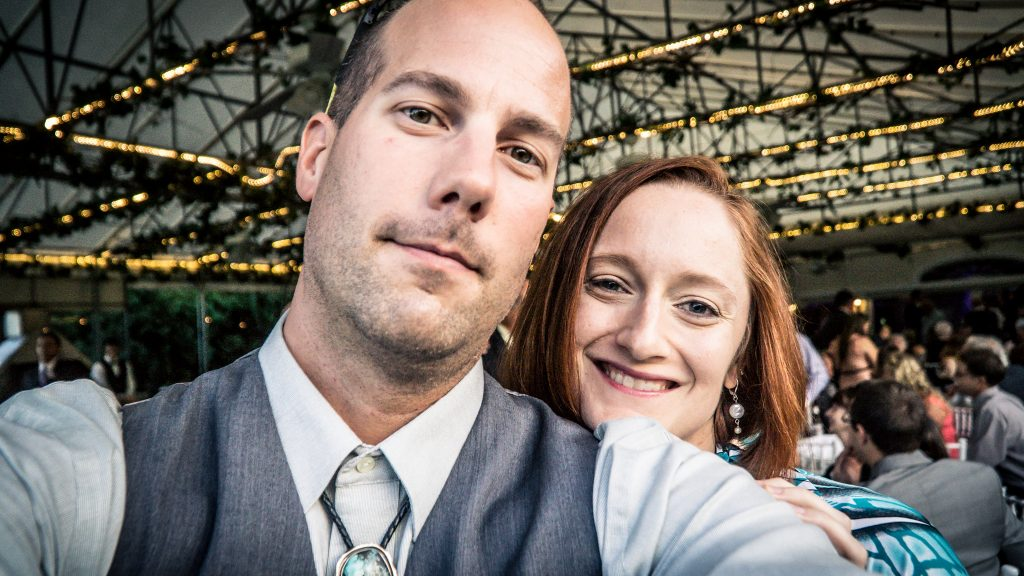 Selfie of the wife and I at a New York wedding
