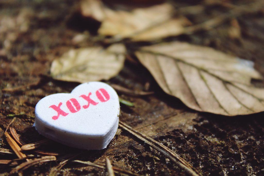 XOXO heart and love