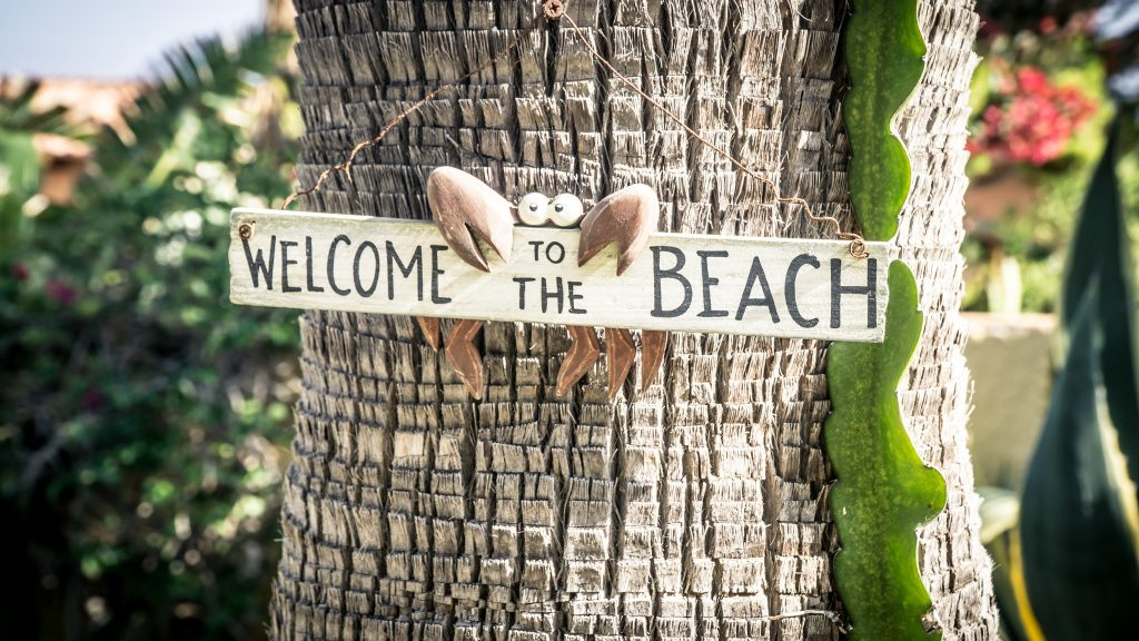 "As the sign says, ""Welcome To The Beach""!"