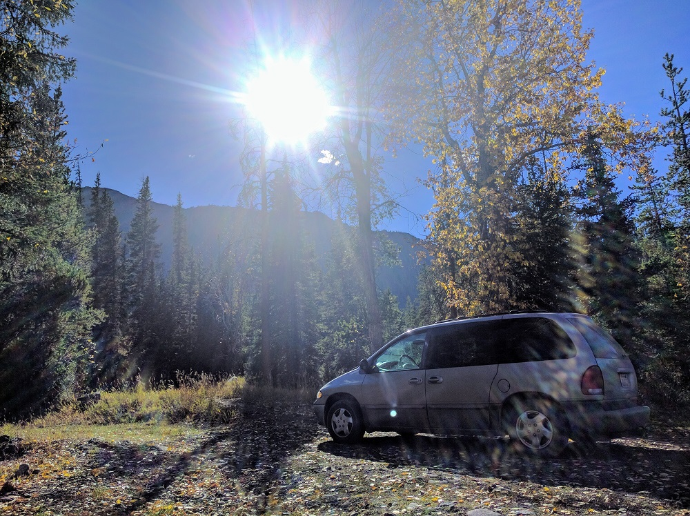 The Resume Gap van in Yellowstone