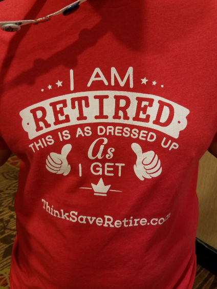 How to retire early? Well, this shirt is optional