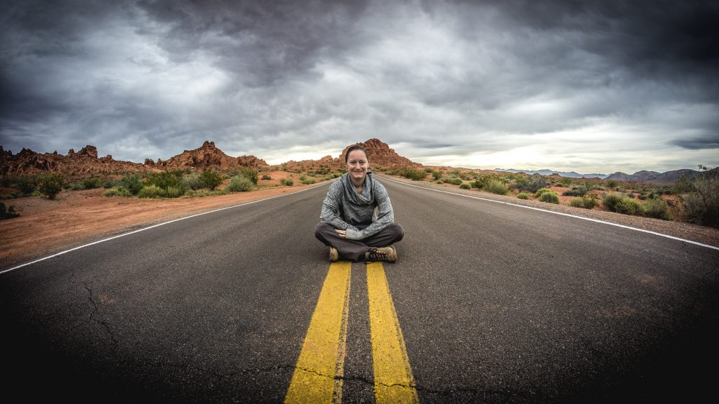 Courtney in Valley of Fire State Park