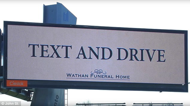Text and drive funeral home