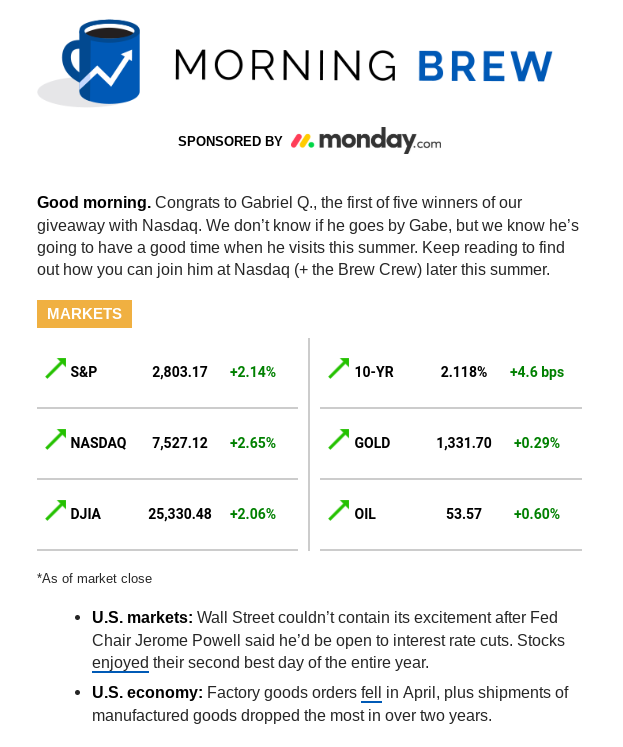 Morning Brew newsletter