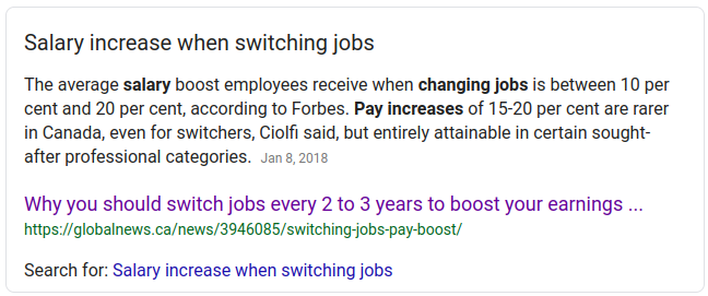 Make more money by changing jobs
