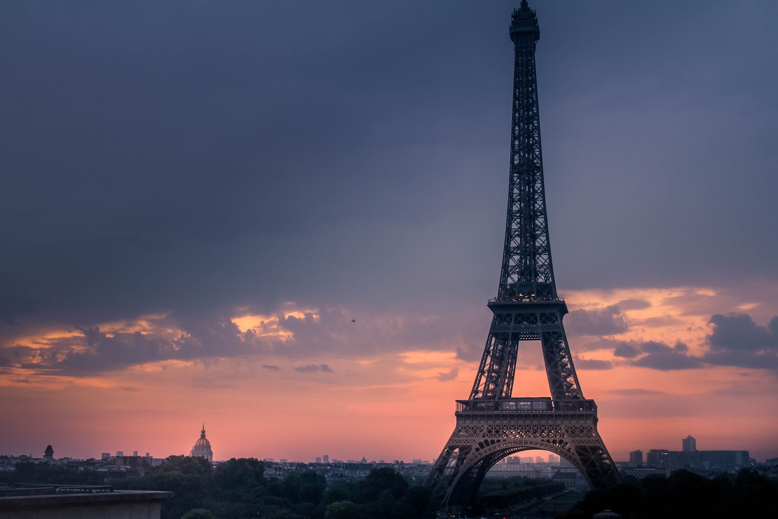 Eiffel Tower in Paris France at sunset